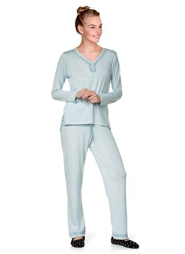 Doremi Kadın Pijama Takımı Mavi